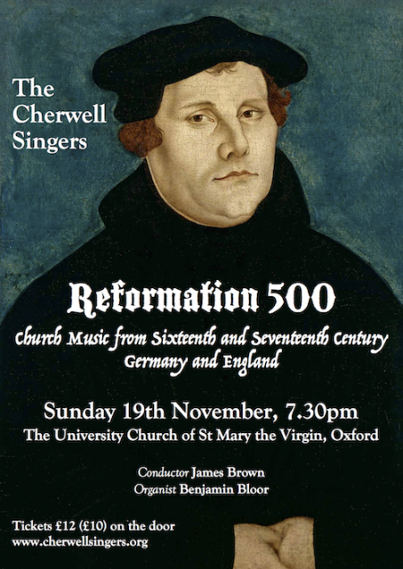 Reformation 500 - the changing face of Church Music in Germany and England